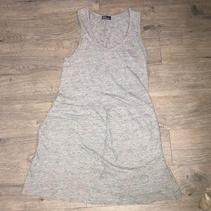 Gap, Racerback Knit Dress, SpaceDyed Gray